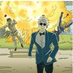 """Oppa Gangnam Style explosion. XD """"My awesomeness did that."""" --Prussia"""