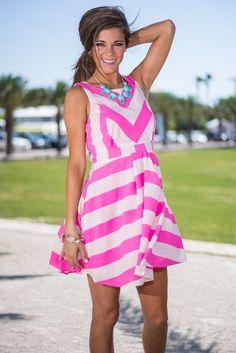 The Cindy Dress, Hot Pink