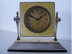 Art Deco Clock: A 1929 Art Deco Clock I should have won on Ebay but is now sitting on someone else's mantelpiece