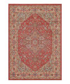 Look at this #zulilyfind! Red & Beige Ghazni Rug by Momeni Rugs #zulilyfinds