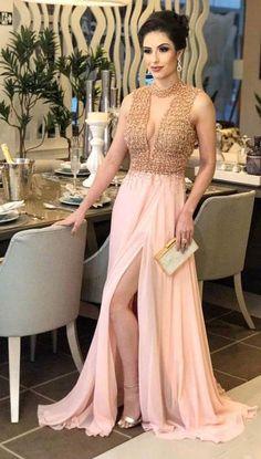 vestido de festa rosa millennial