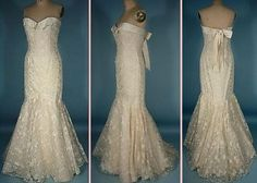Ivory Embroidered Open Lace Organdy Gown BRAND : Nolan Miller Couture PRICE : USD 1250