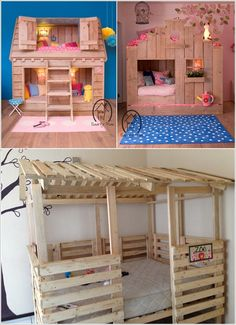Play house from pallets Love the last one