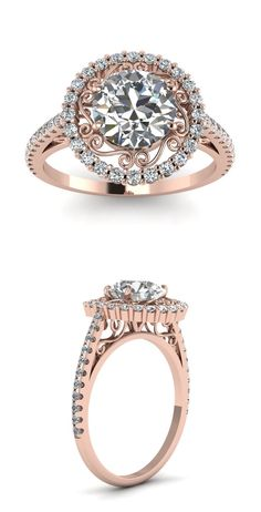 Rose Gold Halo Engagement Rings | Fascinating Diamonds...