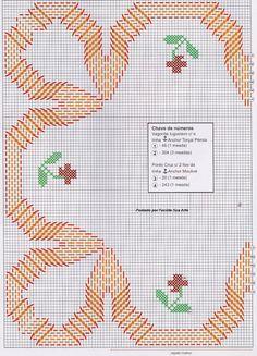 Facilite Sua Arte: Vagonite 10 - Caminho com ponto cruz Cross Stitching, Cross Stitch Embroidery, Hand Embroidery, Cross Stitch Patterns, Swedish Weaving Patterns, Chicken Scratch Embroidery, Swedish Embroidery, Monks Cloth, Weaving Designs