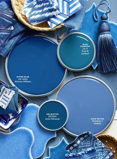 newport beach: blue and white forever! Blue Paint Colors, Paint Colors For Home, Room Colors, Wall Colors, House Colors, Colours, Corporate Design, Color Pallets, Interior Paint