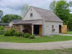 Post And Beam Barn With Lean-to