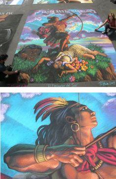 Tracy Lee Stum chalk art