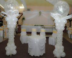 Unicos Adornos con globos para boda.¡Originales diseños!