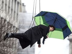 Benedict Cumberbatch is Mary Poppins? Filming on the set of Sherlock season 3!