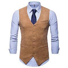 Men's V Neck Blazer Regular Floral Party Work Spring Long Sleeve Black / Red / Royal Blue M / L / XL 2020 - Rs. 4157 Waistcoat For Suit, Mens Suit Vest, Mens Casual Suits, Mens Suits, Terno Casual, Gilet Costume, Vintage Design, Cool Suits, Slim Fit