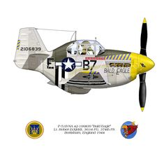"""North American P-51B """"Bald Eagle""""  