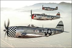 Republic P-47Ds in flight | En route to the Planes of Fame a… | Flickr