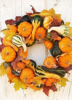 Осенний венок на дверь 28