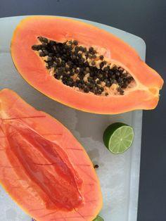 red papaya and lime