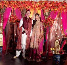 Pakistani bridal by Farah Talib Aziz. Bridal Mehndi Dresses, Walima Dress, Wedding 2017, Wedding Ring, Mehndi Outfit, South Asian Wedding, Pakistani Bridal, Wedding Wishes, Party Wear
