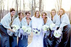 Winter-Outdoor-Bridal-Party-Portraits  Lefebvre Photo http://lefebvrephoto.com RI Wedding Photographer