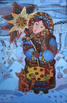 Колоритные картины на стекле художника Натали Курий-Максымив