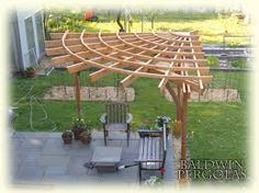 Image result for triangle pergola