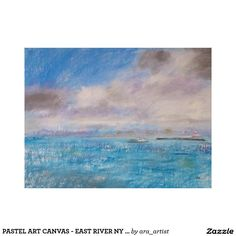 PASTEL ART CANVAS - EAST RIVER NY LANDSCAPE CANVAS PRINT
