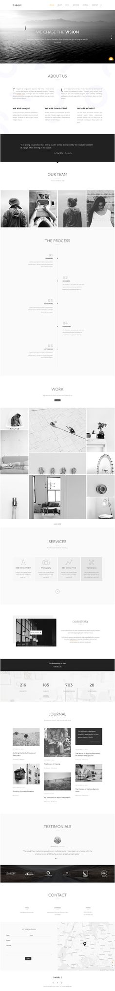 Dazzle is a modern and elegant WordPress Theme, one-page or multi-page solution, perfect for creative professionals, suitable for any type of business, built for any needs. Every single detail is carefully designed and crafted, in order to create a seamless and wonderful user experience across all devices.