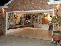 Clean garage envy! April is national garage organization month.