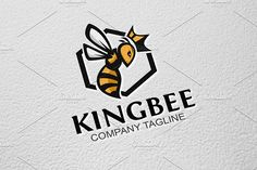 Logo For Sale King Bee by GoldenCreative on @creativemarket