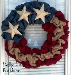 Summer Wreath-4th of July Wreath-Front Door Wreath-AMERICANA RED ...