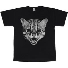 We Are Still Bold and Beautiful - Wild Cat Black T-shirt (3.730 RUB) ❤ liked on Polyvore featuring men's fashion, men's clothing, men's shirts и men's t-shirts