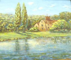 Riverscape with Church & Poplars Vintage Art OOAK Painting Vintage Oil Painting Vintage Landscape Painting by BiminiCricket on Etsy Landscape Paintings, Vintage Art, Painting, Oil Painting, Art, Vintage Landscape, Ooak, Vintage, Vintage Oil Painting