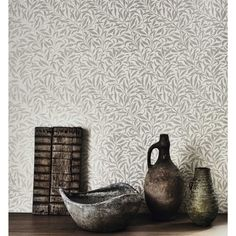 Shop for Wallpaper at Style Library: Pure Willow Bough by Morris & Co. This much-loved Morris wallpaper design has been simplified and re-painted . Decor, British Design, House Inspiration, Silver Wallpaper, Inspiration, Wallpaper, William Morris Interior, William Morris Wallpaper, Morris Wallpapers