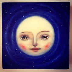 Moon ☾ illustration by Ankakus Sun Moon Stars, Sun And Stars, Moon Dance, Moon Illustration, Moon Pictures, Good Night Moon, Moon Magic, Beautiful Moon, Moon Art