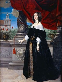 Portrait of Anna Margareta von Haugwitz (1622-1673), countess of Salmis, married Swedish count Carl Gustaf Wrangel | Anselm van Hulle (1649)