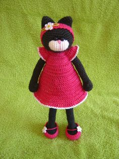 Crochet  Amigurumi Cat. $38.00, via Etsy.