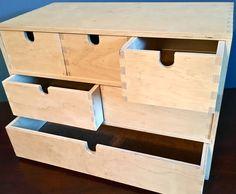 IKEA MOPPE FIRA Large Birch Plywood Storage Box with Drawers Organization Unit Dovetail Joinery Customizable Storage by YatsDomino on Etsy