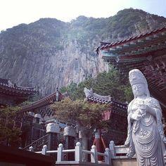 Cave temple in #jeju #korea #temple #landscape