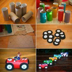 Tractor Popsicle Stick Craft For Kids Kids Crafts, Popsicle Stick Crafts For Kids, Craft Stick Crafts, Toddler Crafts, Preschool Crafts, Cardboard Box Crafts, Paper Crafts, Craft Activities, Toddler Activities