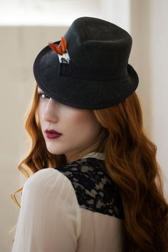 Lovely hairstyle and a lovely hat |Trilby Hat|