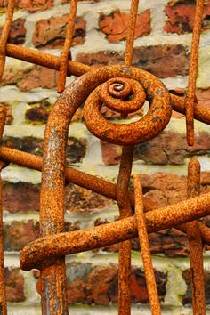 rusted spiral