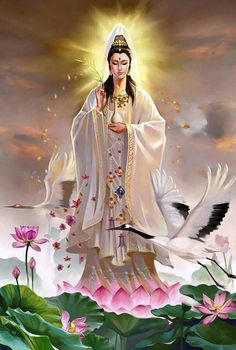 Buddha Quan Yin (also spelled Kwan Yin, Kuanyin, Guanyin Reiki Angelico, Divine Mother, Mother Mary, Buddha Art, Goddess Art, Sacred Feminine, Hindus, Guanyin, Gods And Goddesses