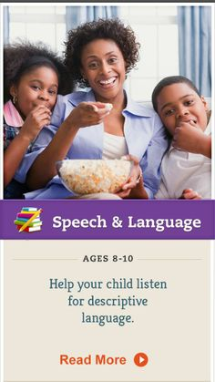 When you see or hear descriptive metaphors while reading or watching TV with your child, take time to discuss them. Click for more. #SpeechandLanguage