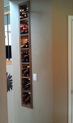 There are a number of ways wine can be kept in a home. If you're cellaring your wine to maturity for private pleasure, it's not going to really make a difference. Try to remember, most wine isn't going to improve… Continue Reading → Home Decor Kitchen, Home Kitchens, Diy Home Decor, Wine Rack Wall, Wine Wall, Home Wine Cellars, Home Bar Designs, Wine Storage, Küchen Design