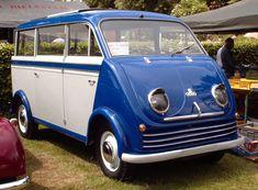 The First Mini Van? http://upload.wikimedia.org/wikipedia/commons/f/fd/Dkw-schnellaster-bus.jpg