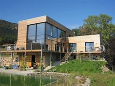 L-shaped Timber Construction Modern #Passive #House #Design