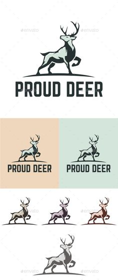 Proud Deer Logo Template #design #logotype Download: http://graphicriver.net/item/proud-deer/13036575?ref=ksioks