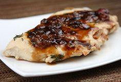 5-Ingredient Apricot- Balsamic Chicken #recipe