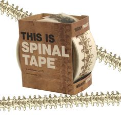 This is Spinal Tape - vertebrae packing tape