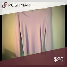 Lilac , scoop neck, long sleeves. Large Lightweight knit Ann Taylor Tops Tees - Long Sleeve