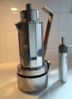 Vintage ESPRESSO Maker ITALIAN DESIGNER Carlo Giannini Stovetop Moka Coffee DECO #CarloGiannini
