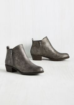 I'm Kind of a Gig Deal Bootie. The time has finally come for your big break, and these pewter booties by Madden Girl energize your rise to rock…